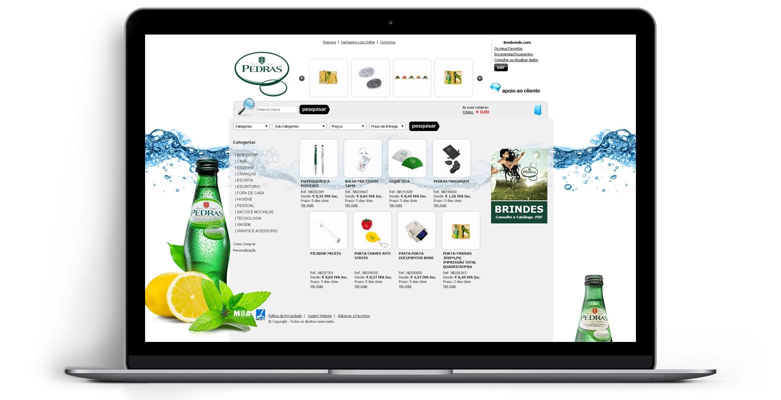 Loja Virtual - Linha de Produtos e Merchandising - Água das Pedras