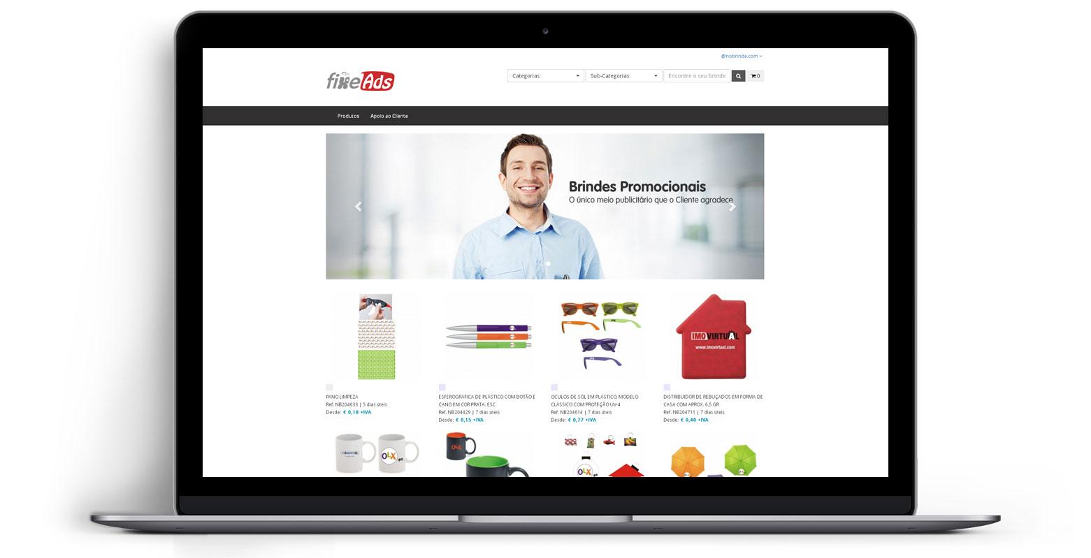 Loja Virtual - Linha de Produtos e Merchandising - fixe Ads
