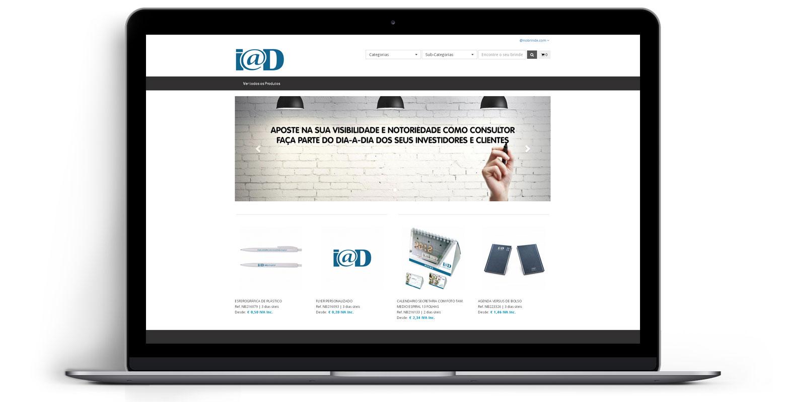 Loja Virtual - Linha de Produtos e Merchandising - I@D Portugal