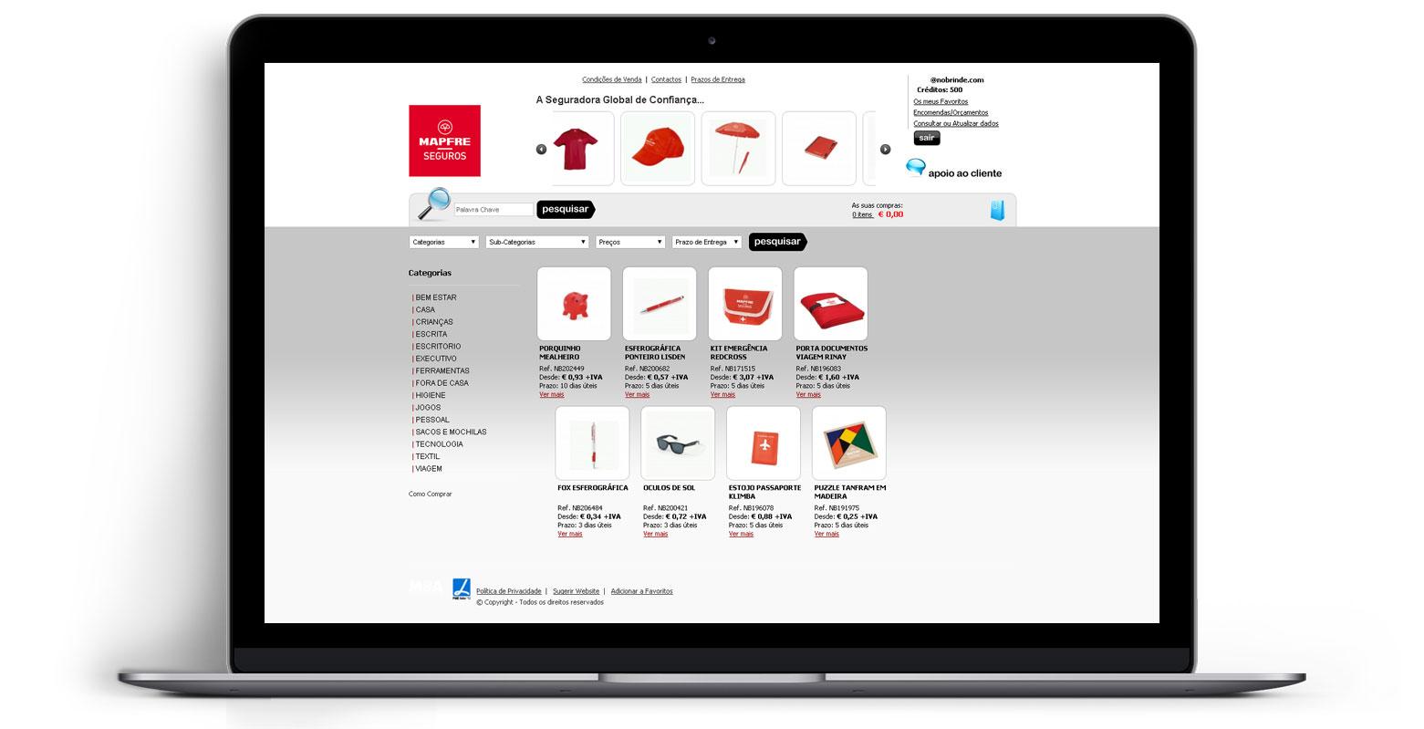 Loja Virtual - Linha de Produtos e Merchandising - MAPFRE SEGUROS