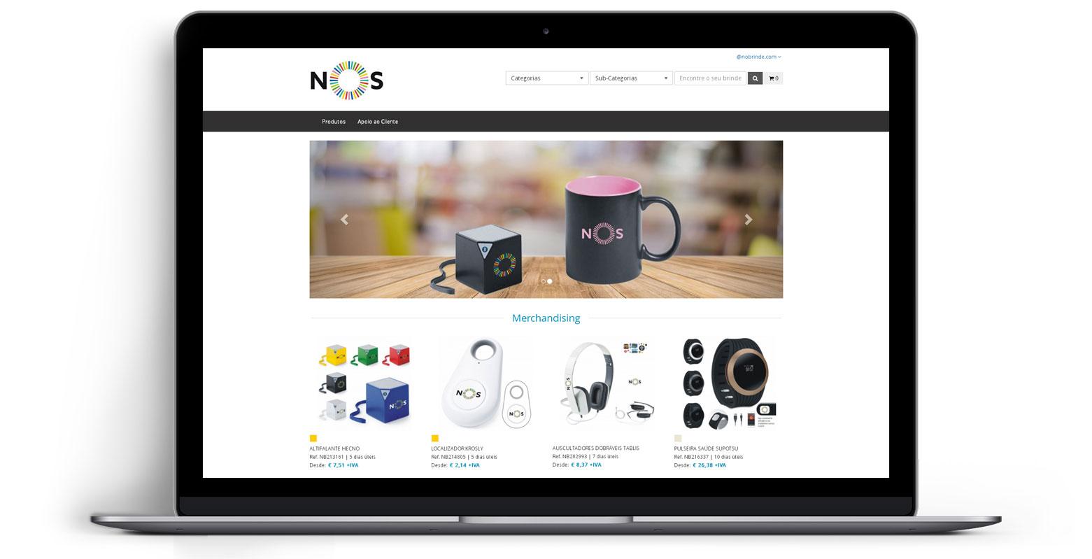 Loja Virtual - Linha de Produtos e Merchandising - NOS