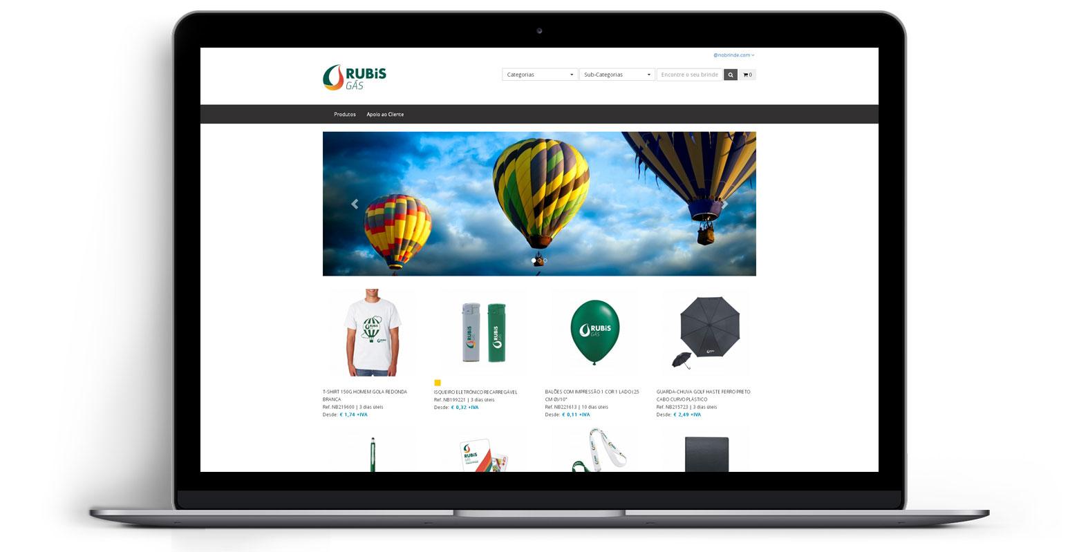 Loja Virtual - Linha de Produtos e Merchandising - RUBiS GÁS