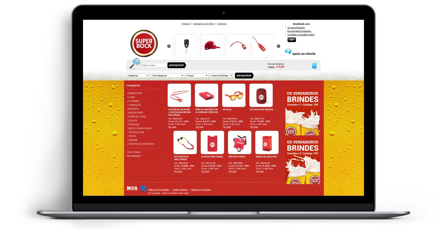 Loja Virtual - Linha de Produtos e Merchandising - SUPER BOCK